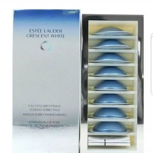 8PC ESTEE LAUDER CRESCENT WHITE FULL CYCLE SORBET